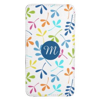 Multicolored Assorted Leaves Ptn (Personalized) Galaxy S4 Pouch