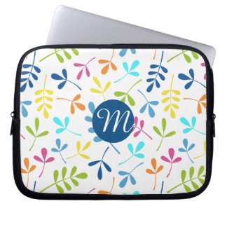 Multicolored Assorted Leaves Ptn (Personalized) Laptop Sleeve