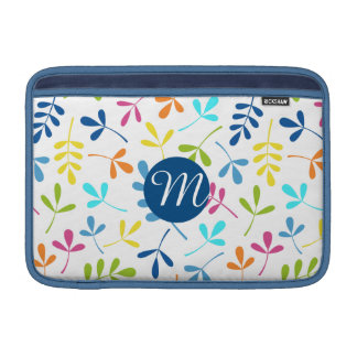 Multicolored Assorted Leaves Ptn (Personalized) Sleeve For MacBook Air