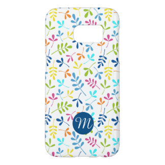 Multicolored Asstd Leaves Rpt Ptn (Personalized) Samsung Galaxy S7 Case