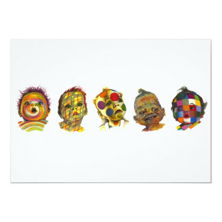 Multicolored Baby Face Lineup Art by Lenn Redman Card