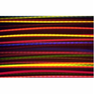 Multicolored bands photo cutouts
