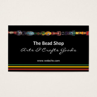 Multicolored Beads Bead Shop Business Card