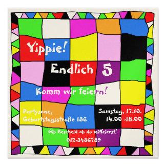 Multicolored birthday invitation I