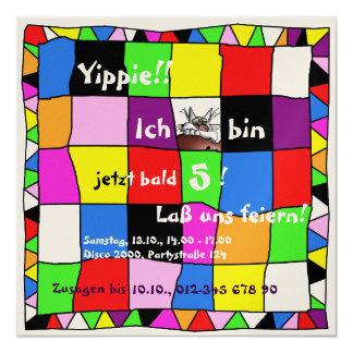 Multicolored birthday invitation III