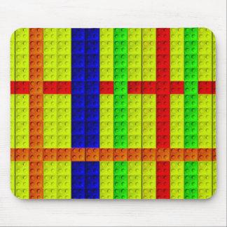 Multicolored blocks pattern mouse pad