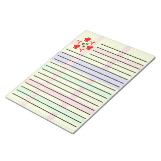 Multicolored blocks pattern notepad