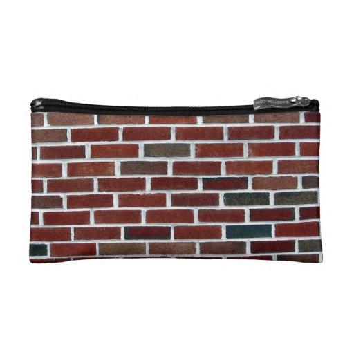 Multicolored Brick Wall Cosmetics Bags