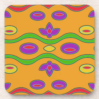 Multicolored Bright Abstract Drink Coaster