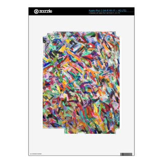 Multicolored brush marks iPad 3 decal