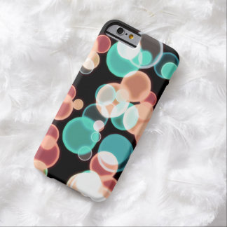 Multicolored Bubbles on a Black Background Barely There iPhone 6 Case