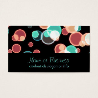 Multicolored Bubbles on a Black Background Business Card