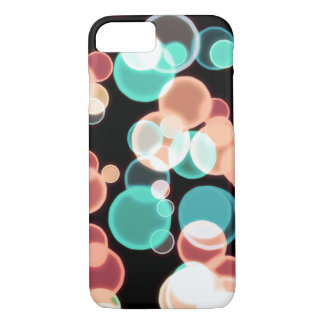 Multicolored Bubbles on a Black Background iPhone 8/7 Case