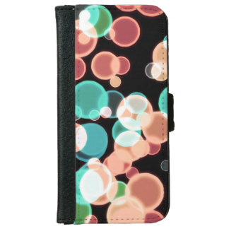 Multicolored Bubbles Wallet Phone Case For iPhone 6/6s
