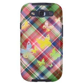 Multicolored butterflies galaxy s3 case