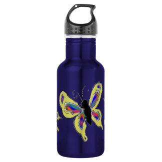 Multicolored Butterflies Stainless Steel Water Bottle