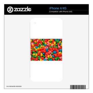 multicolored candies iPhone 4S decals