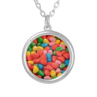multicolored candies round pendant necklace