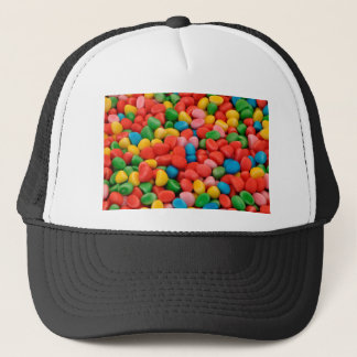 multicolored candies trucker hat