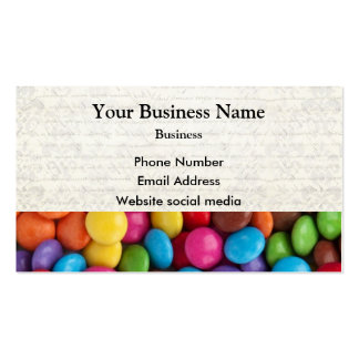 Multicolored candy or sweet pattern business card