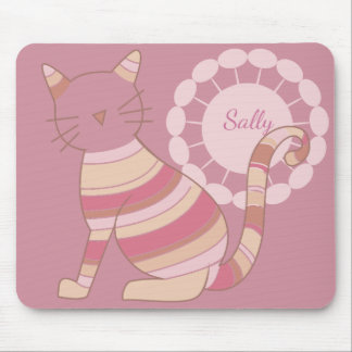 Multicolored Cat Silhouette Personalized Mouse Pad