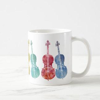 Multicolored Cellos Coffee Mug