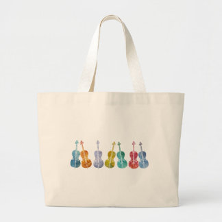 Multicolored Cellos Large Tote Bag