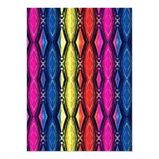 Multicolored Chains Pattern. Artistic Design Card