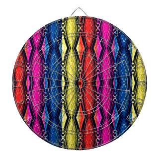 Multicolored Chains Pattern. Artistic Design Dartboards