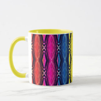 Multicolored Chains Pattern. Artistic Design Mug