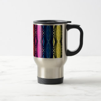 Multicolored Chains Pattern. Artistic Design Travel Mug