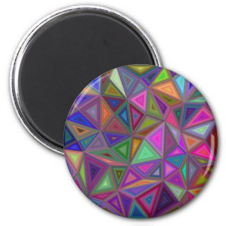 Multicolored chaotic triangles magnet
