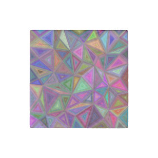 Multicolored chaotic triangles stone magnet