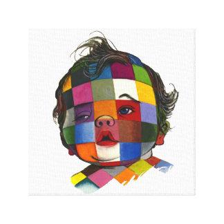 Multicolored Checker Baby Face Canvas Print