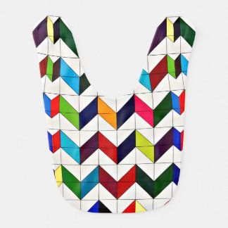 Multicolored Chevron Pattern Baby Bib
