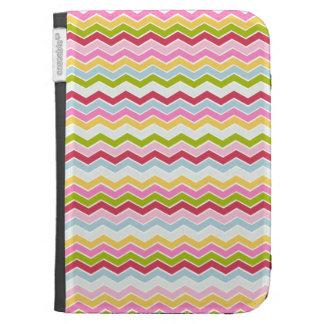 Multicolored chevron zigzag kindle covers