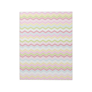 Multicolored chevron zigzag note pad
