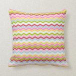 Multicolored chevron zigzag pillow