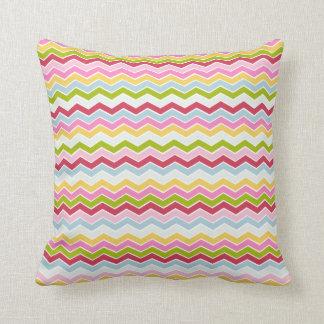 Multicolored chevron zigzag pillows