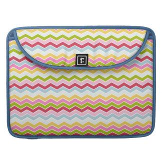 Multicolored chevron zigzag sleeve for MacBooks