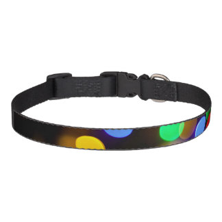 Multicolored Christmas lights. Pet Collar