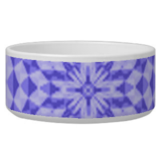 Multicolored circle abstract pattern pet water bowl
