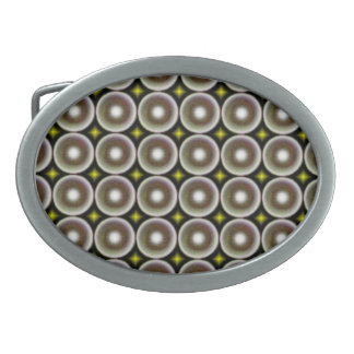 Multicolored circle oval belt buckle