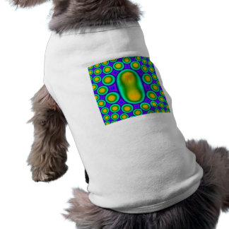 MUlticolored circle pattern Pet T-shirt