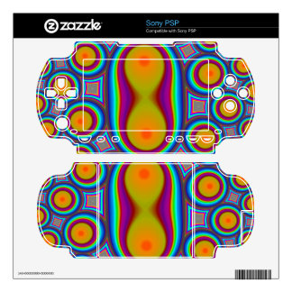 Multicolored Circle Pattern PSP Decals