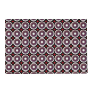 Multicolored circle placemat