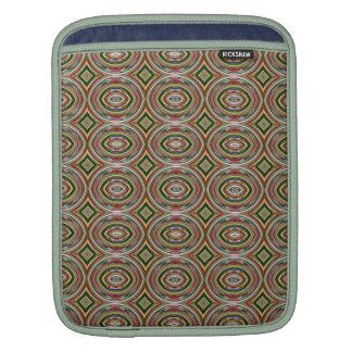 Multicolored Circles. Elegant Geometric Pattern iPad Sleeves