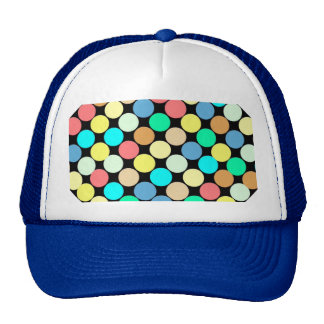 Multicolored Circles. Geometric Pattern Trucker Hat