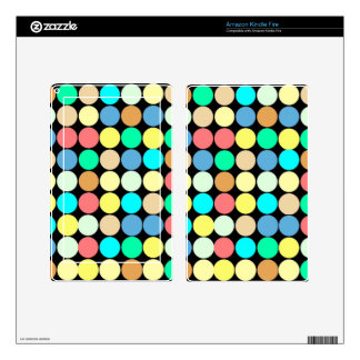 Multicolored Circles. Geometric Pattern Kindle Fire Decal