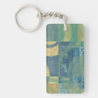 Multicolored Circles & Panels Keychain